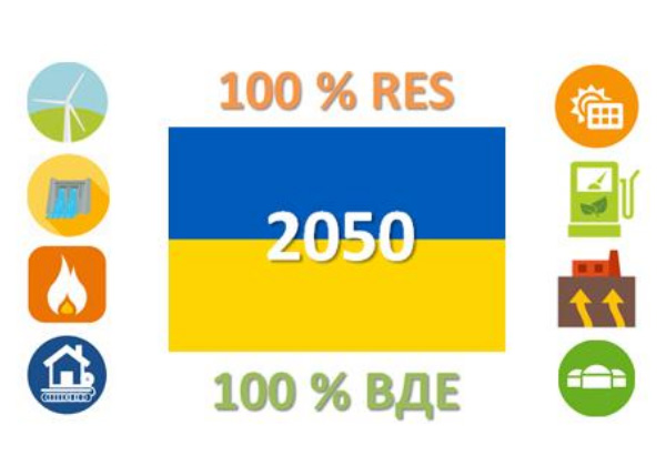 Transition of Ukrainian energy sector towards 100% RES in 2050. Public Presentation